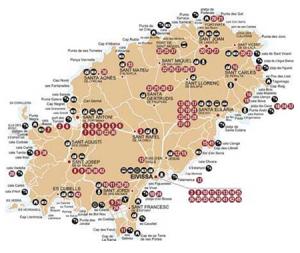 Mapa Ibiza-Bus